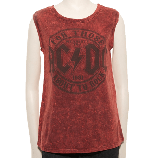 For Those About To Rock Scarlet Tank Top
