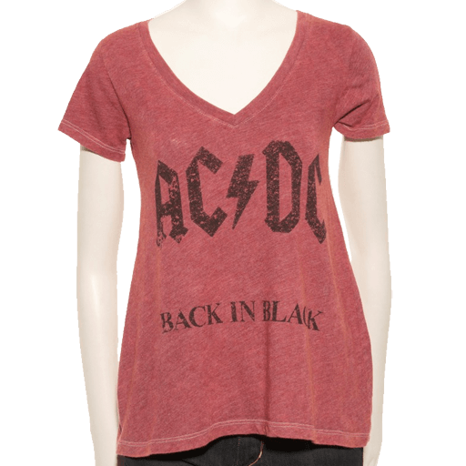 Back In Black Faded Logo T-Shirt