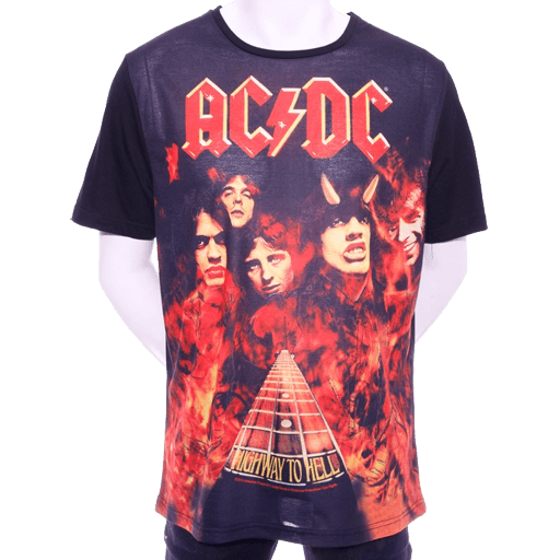 Highway To Hell Black Matte T-Shirt