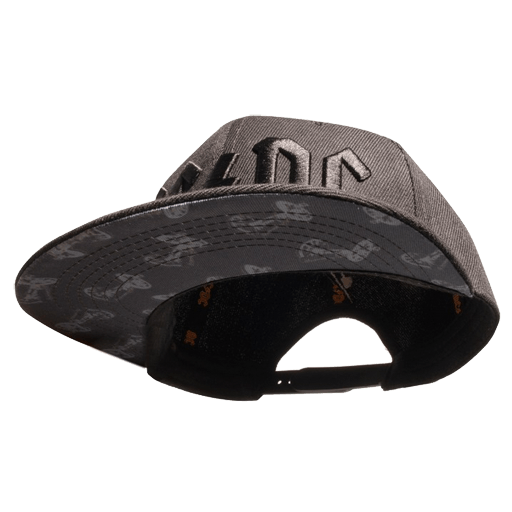 Grey Cannon Under Brim 3D Logo Hat