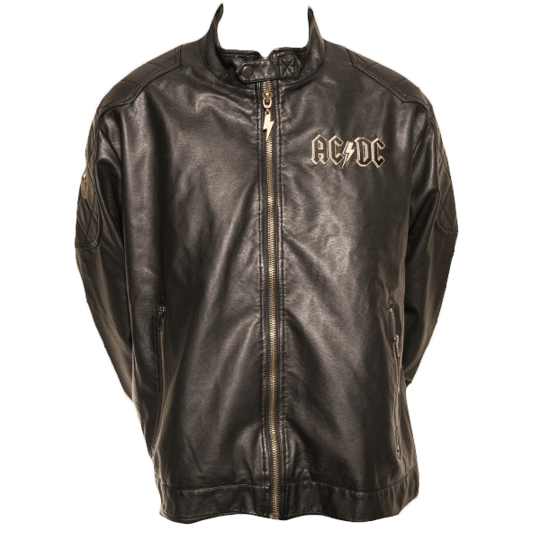 Rock Or Bust Faux Leather Jacket