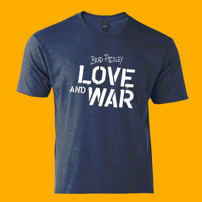 Blue Love and War T-Shirt $25