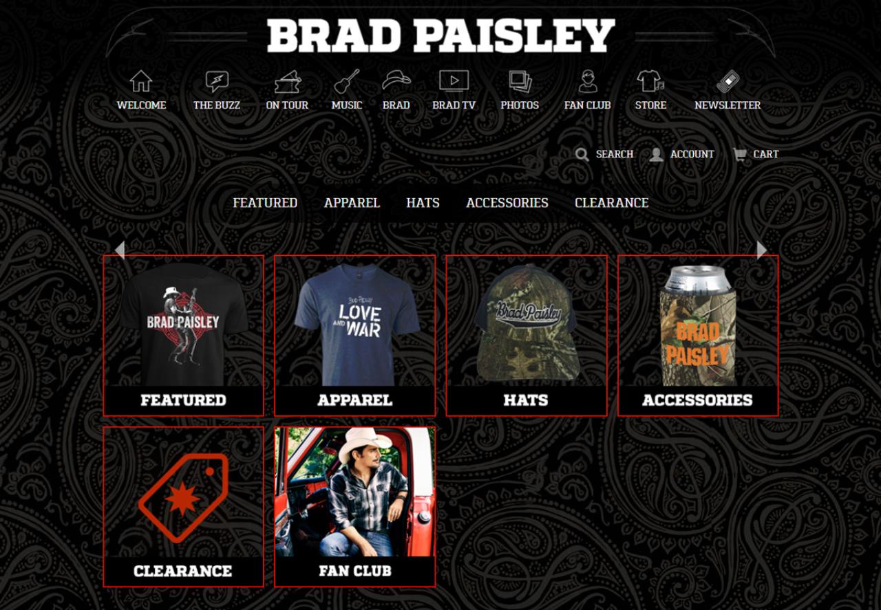 Brad Paisley Store