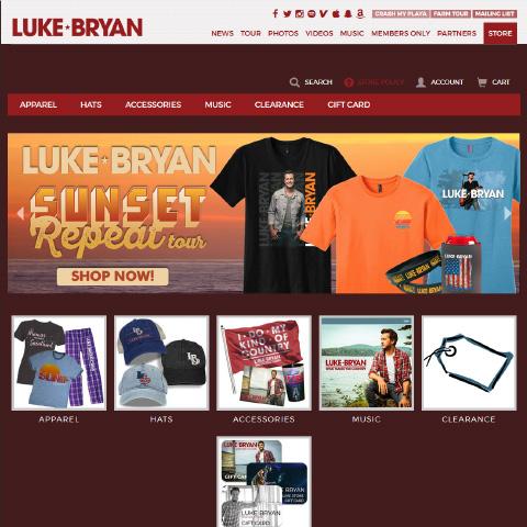 Luke Bryan Store