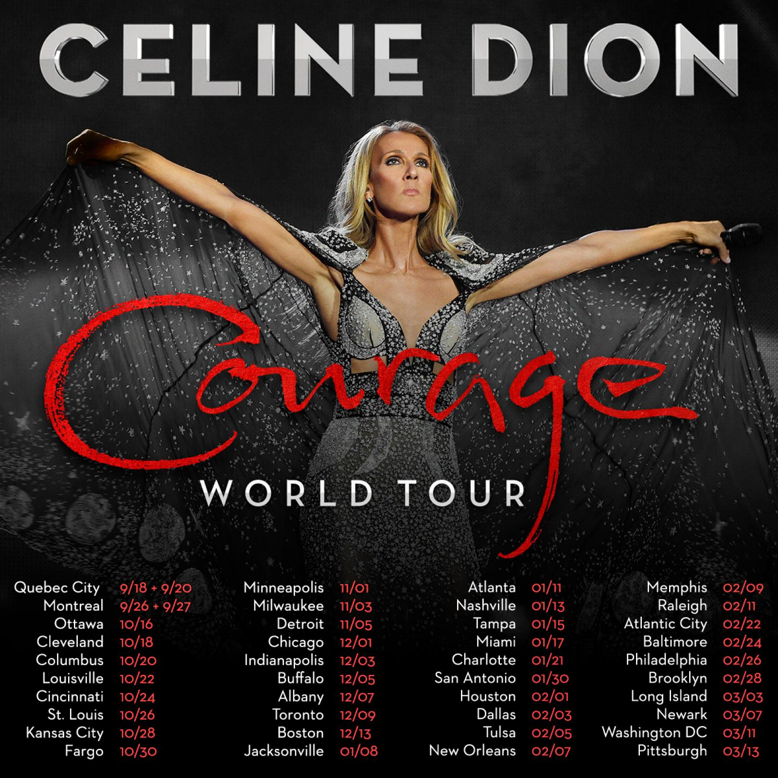 2df9ceda13d Celine Dion announces COURAGE World Tour kicking off in September