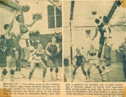 David in newspaper photos, when he played basketball in high school in Pt. Clinton, Ohio.