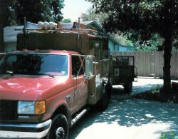New CCA truck and trailer 1988.