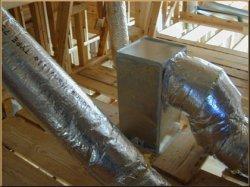 Insulated return air filter box.