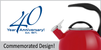 enamel on steel anniversary teakettle premium