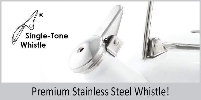 premium stainless steel single tone whistle