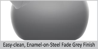"""easy clean enamel on steel fade grey finish enamel on steel heath grey teakettle premium """"boiler"""" interior enamel 2 quart capacity ombre fade grey color"""