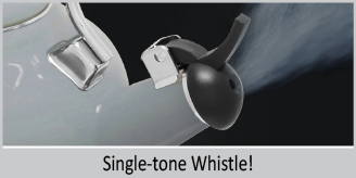 "single tone whistle enamel on steel lake grey teakettle premium ""boiler"" interior enamel 1.7 quart capacity ombre fade grey color"