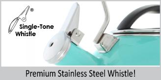 premium stainless steel whistle  single tone whistle aqua oolong teakettle