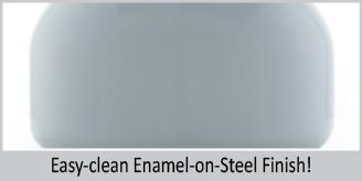 easy clean enamel on steel finish