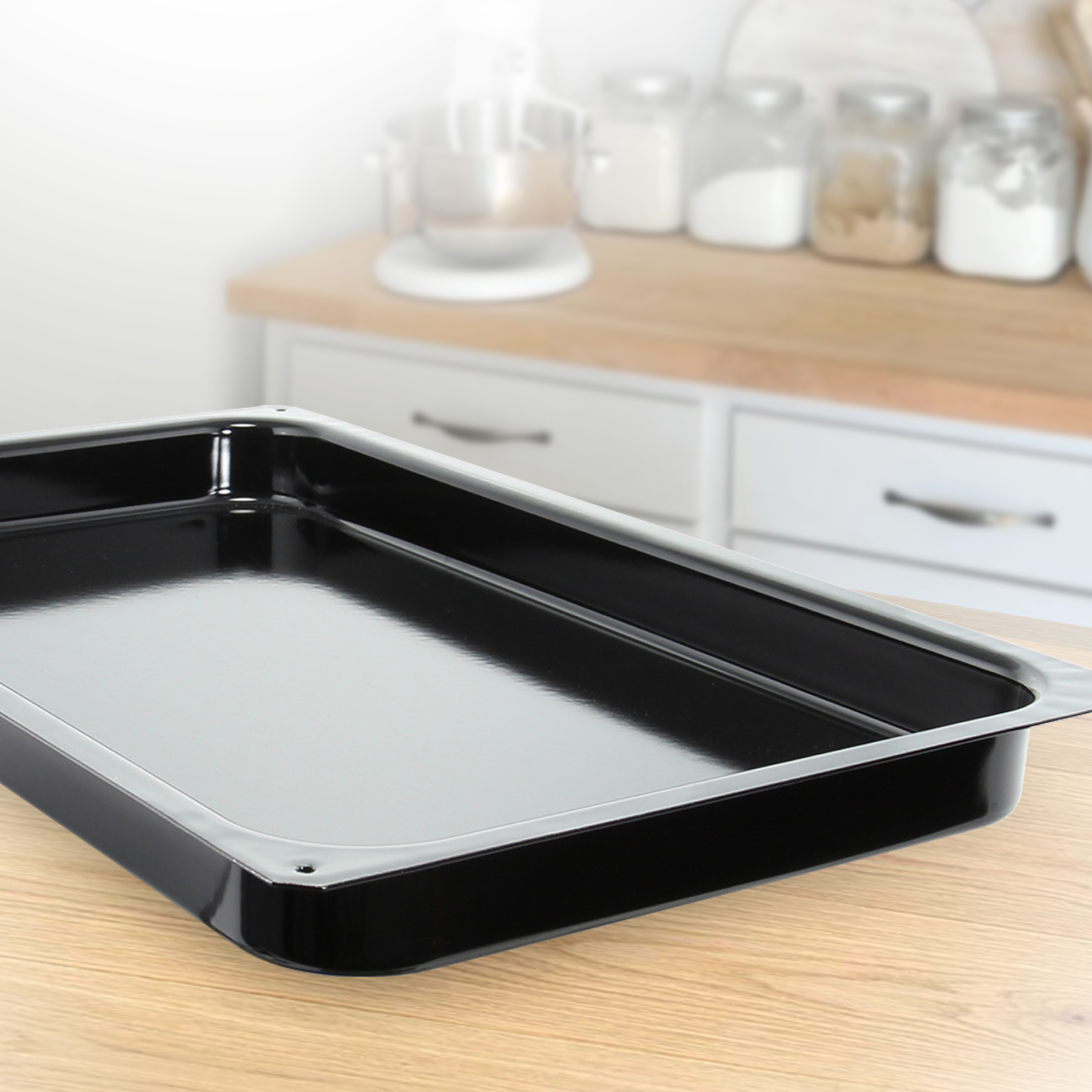 riess 21 inch bake tray in black
