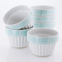 Chantal's ceramic ramekins are made of the highest quality stoneware to ensure excellent heat distribution. The non-porous glaze won't react with foods and is resistant to stains. All Chantal ceramics are lead and cadmium safe