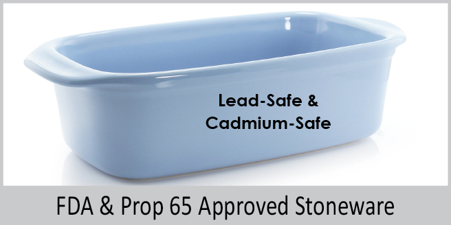 fda and prop 65 approved stoneware