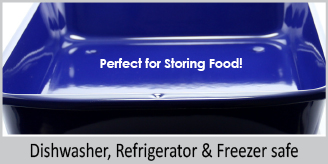 dishwasher refrigerator and freezer safe perfect for storing food blue high sided enamel on steel oven dish