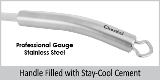 professional gauge stainless steel handle filled with stay cool cement