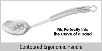 contoured ergonomic handle fits into curve of hand
