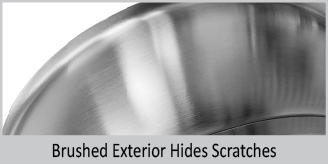 brushed exterior hides scratches