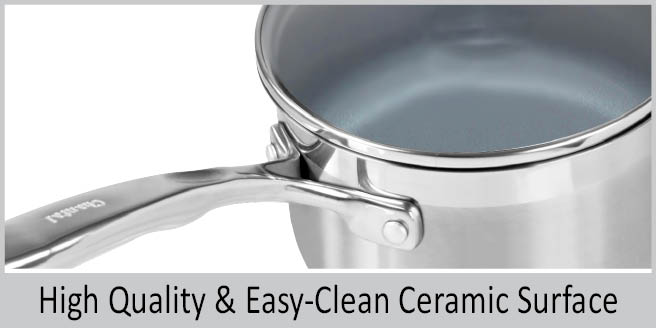stainless steel induction pot safe handle glass lid