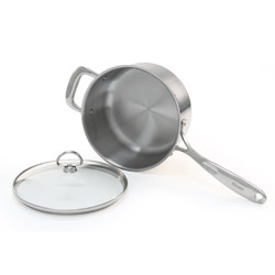 Stainless Steel saucepan chantal induction 21 steel collection premium no nickel non-toxic cookware