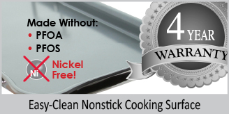 easy clean nonstick cooking surface