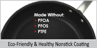 eco friendly and healthy non stick coating no pfoa 8 inch stripes pan