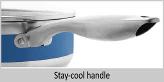 stay cool handle on 8 inch nonstick stripes fry pan