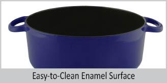 cast-iron 3-piece set with premium enamel interior & exterior no seasoning needed 5 quart dutch oven 10 inch skillet  easy to clean enamel surface