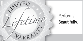 limited lifetime warranty perfroms beautifully