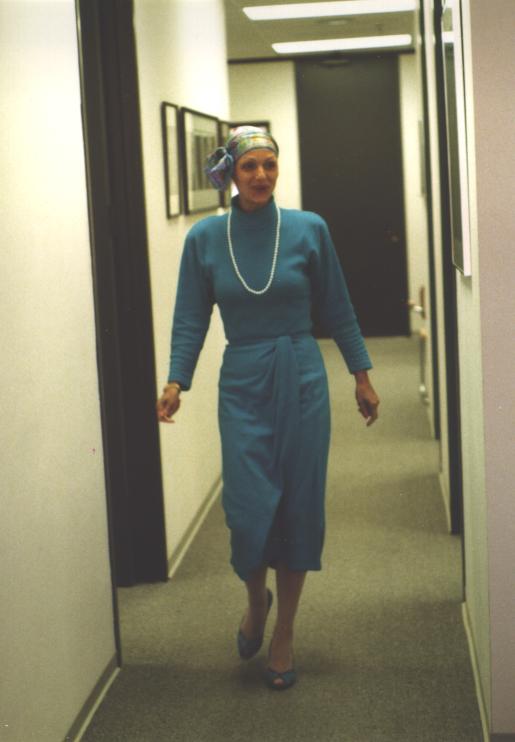 Heida in blue dress