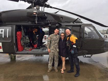 Heida rescued by helicopter during Hurricane Harvey