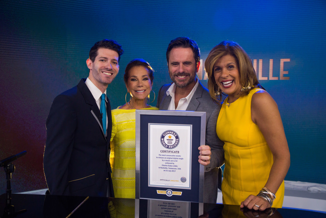 CHARLES ESTEN SETS GUINNESS WORLD RECORDS™ TITLE for the  Most Consecutive Weeks To Release An Original Digital Single By A Music Act