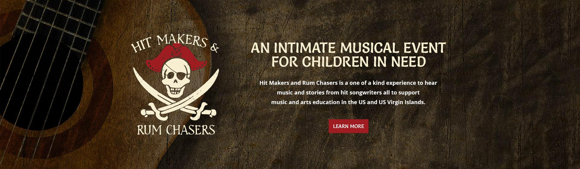 Hit Makers and Rum Chasers is a one of a kind experience to hear music and stories from hit songwriters all to support music and arts education in the US and US Virgin Islands.