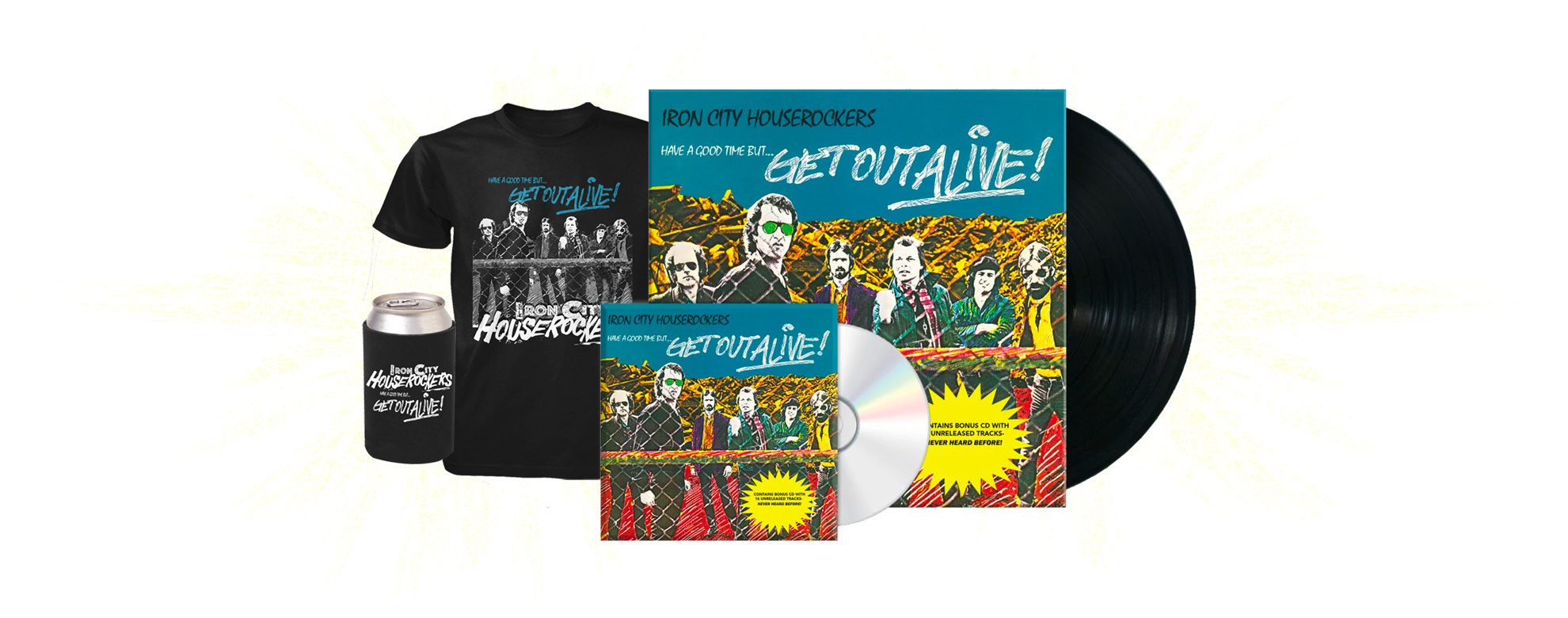 Have A Good Time...But Get Out Alive pre-order bundles