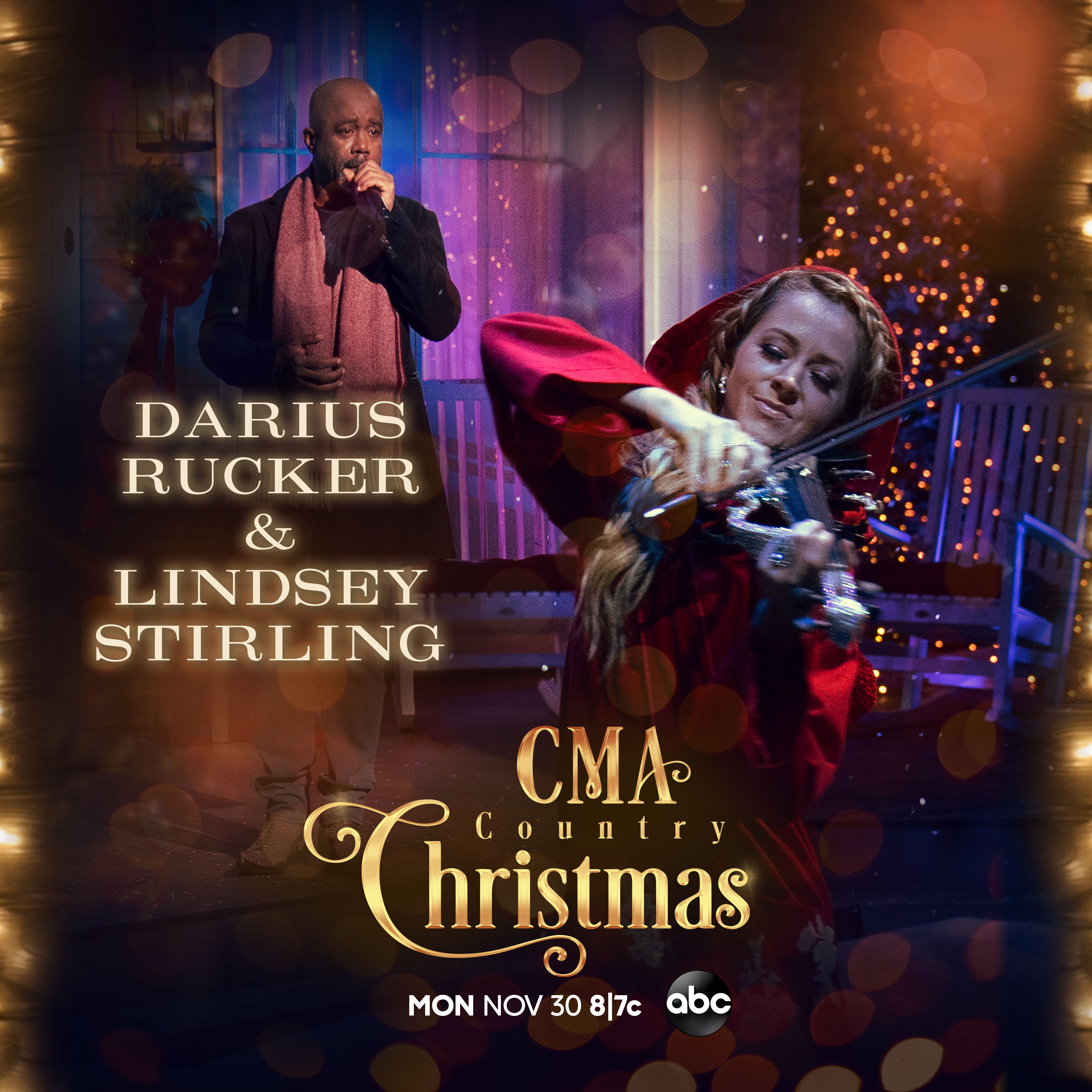 Darius To Perform on CMA Country Christmas with Lindsey Stirling