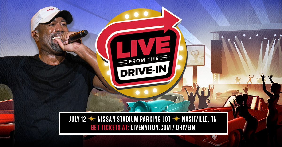 Darius To Join Live Nation's Live From The Drive-In Concert Series!