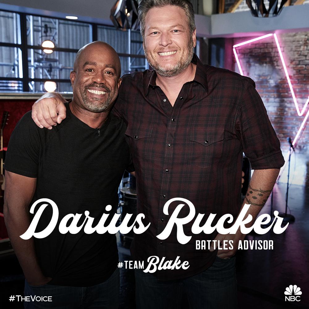 Darius Joins Team Blake on The Voice as Battle Advisor