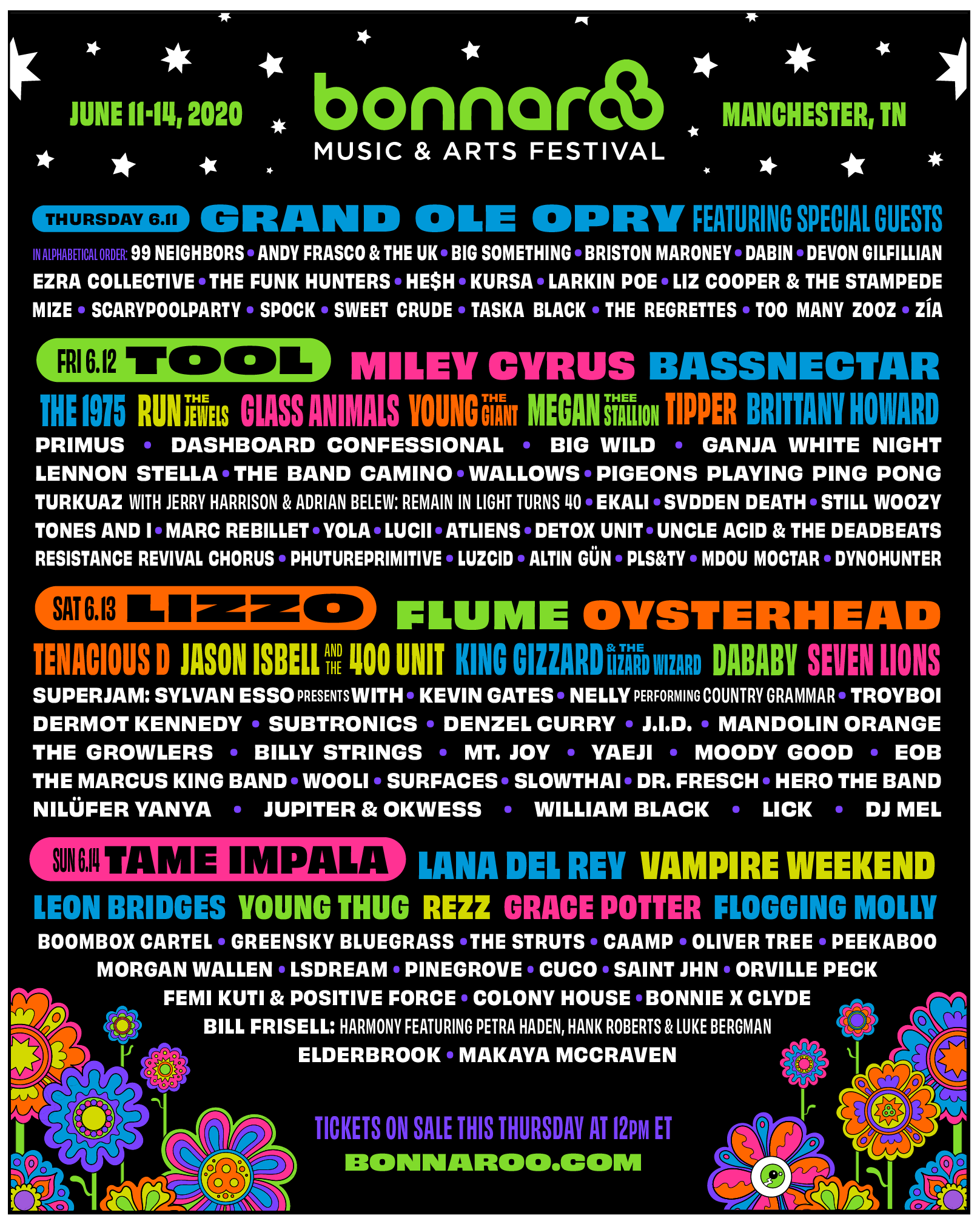 DC to play Bonnaroo 2020!