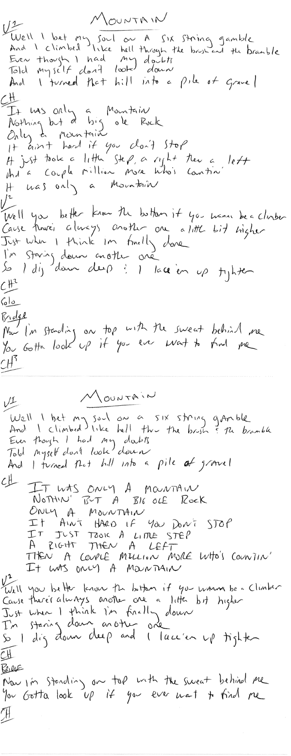 dierks bentley :: mountain lyrics