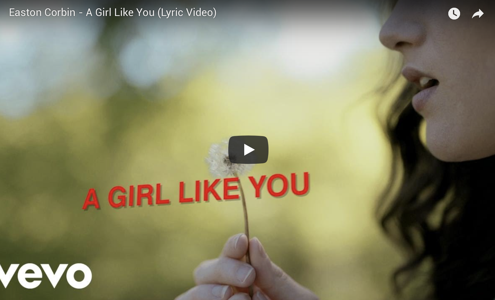 A GIRL LIKE YOU LYRIC VIDEO OUT NOW!
