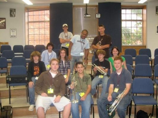 Trumpet Class @ FSU Jazz Camp 2007
