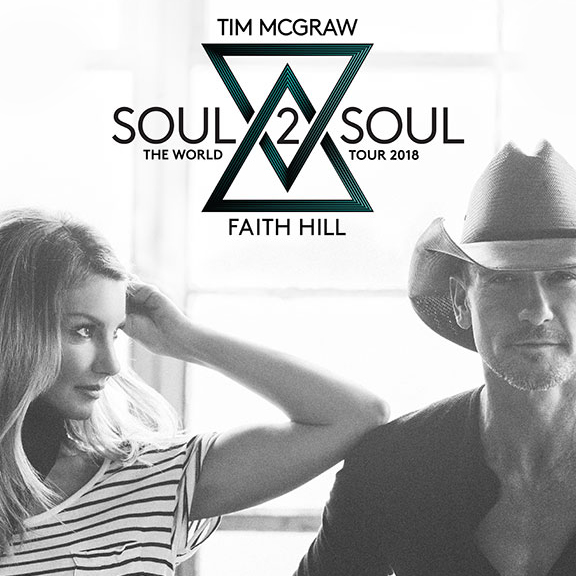 Grammy Award-Winning Superstars Tim Mcgraw and Faith Hill Extend  Soul2Soul The World Tour into 2018 with 25+ New Dates