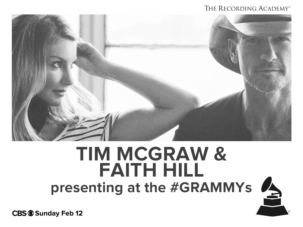 Tim McGraw & Faith Hill to Present During The 59th Annual GRAMMY Awards