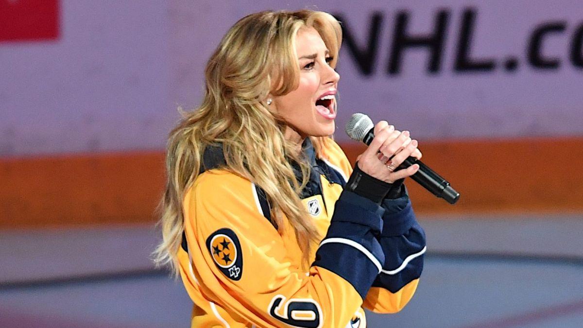 Faith Hill Sings National Anthem as Nashville Predators Close Season