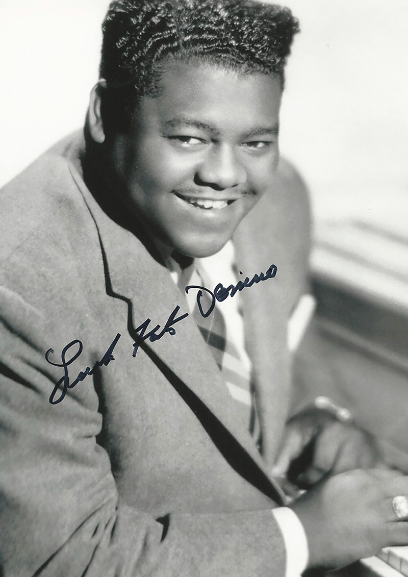 Publicity photo with Fats Domino signature
