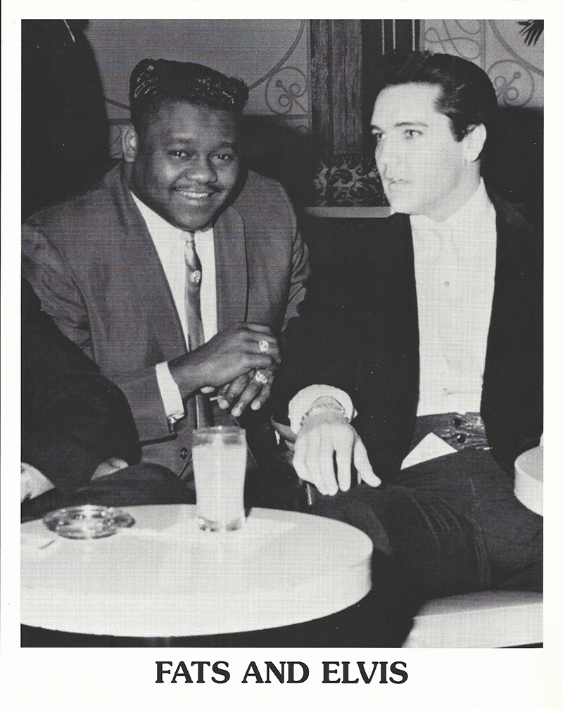Fats Domino and Elvis Presley in 1964