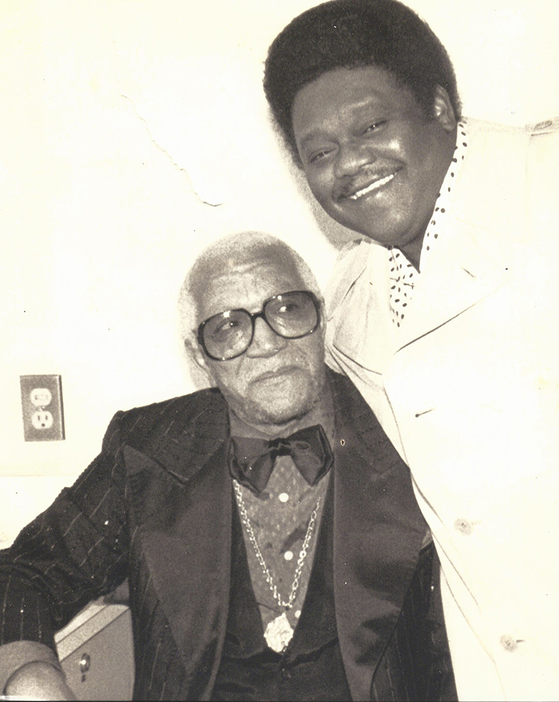 Fats Domino with Comedian Redd Foxx